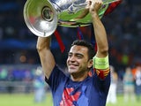Xavi celebrates winning the Champions League with Barcelona in June 2015