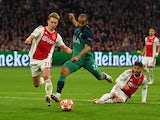 Lucas Moura scores the first of his goals in Tottenham Hotspur's Champions League tie with Ajax on May 8, 2019