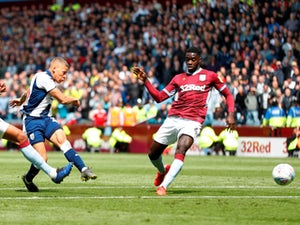Dwight Gayle scores for West Bromwich Albion against Aston Villa in the Championship playoffs on May 11, 2019.