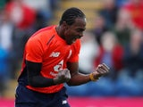 Jofra Archer in action for England on May 5, 2019
