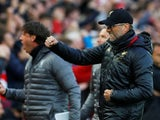Jurgen Klopp celebrates Liverpool's opening goal against Barcelona in the Champions League on May 7, 2019.