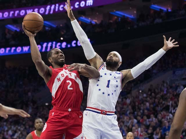 Result: Leonard leads the way as Toronto Raptors rout Philadelphia 76ers