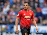 Alexis Sanchez in action for Manchester United against Huddersfield Town on May 5, 2019