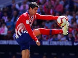 Alvaro Morata in action for Atletico Madrid against Real Valladolid on April 27, 2019