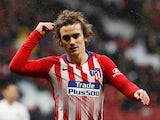 Antoine Griezmann and associated hair in action for Atletico Madrid on April 24, 2019