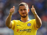 Eden Hazard gives the thumbs-up on May 12, 2019