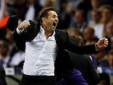 Frank Lampard celebrates Derby County reaching the Championship playoff final on May 15, 2019