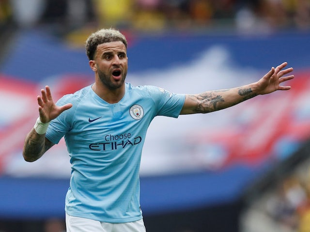 Manchester City full-back Kyle Walker in action during the FA Cup final against Watford on May 18, 2019