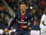 Paris Saint-Germain forward Kylian Mbappe celebrates scoring against Dijon on May 18, 2019