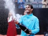 Rafael Nadal sprays all over the place after winning the Italian Open on May 19, 2019