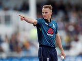 Tom Curran and his haircut in action for England on May 17, 2019
