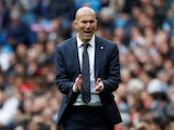 Real Madrid manager Zinedine Zidane pictured in April 2019