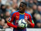 Crystal Palace full-back Aaron Wan-Bissaka in Premier League action against Newcastle United on April 6, 2019