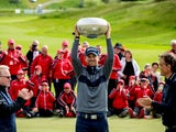 Bernd Wiesberger celebrates winning the Made in Denmark title on May 26, 2019