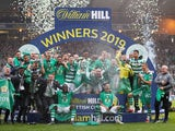 Celtic celebrate winning the Scottish Cup on May 25, 2019