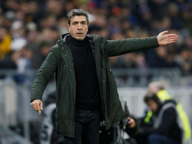 Reims head coach David Guion pictured in January 2019