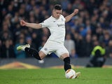 Eintracht Frankfurt striker Luka Jovic in Europa League action against Chelsea on May 9, 2019