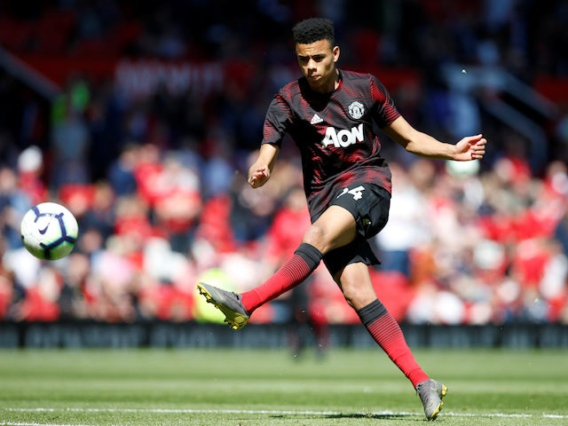 Manchester United striker Mason Greenwood pictured in May 2019
