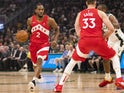 Toronto Raptors forward Kawhi Leonard (2) dribbles the ball during the first quarter against the Toronto Raptors in game five of the Eastern conference finals of the 2019 NBA Playoffs at Fiserv Forum on May 24, 2019