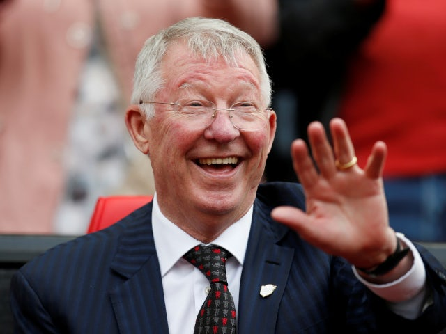 Legendary Manchester United manager Sir Alex Ferguson pictured before the 1999 Treble Reunion Match on May 26, 2019