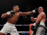 Anthony Joshua eases to victory over Joseph Parker on March 31, 2018.