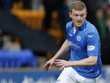 Brian Easton in action for St Johnstone in May 2015