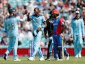 England's Jofra Archer celebrates taking the wicket of Afghanistan's Rahmat Shah
