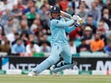 England's Jason Roy in action in a World Cup warm-up match against Afghanistan on May 27, 2019