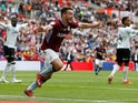 John McGinn celebrates after scoring Aston Villa's second goal against Derby County in the Championship playoff final on May 27, 2019
