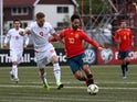Spain attacker Isco in action with Faroe Islands defender Gilli Sorensen in their Euro 2020 qualifier on June 7, 2019