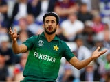 Hasan Ali in action for Pakistan on June 3, 2019