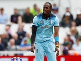 Jofra Archer in action for England at the Cricket World Cup on June 3, 2019