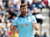 Liam Plunkett pictured in a World Cup warm-up match in May 2019
