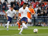 England attacker Marcus Rashford scores against Netherlands in the UEFA Nations League semi-final on June 6, 2019