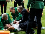 Republic of Ireland's Alan Judge receives treatment from medical staff on June 8, 2019