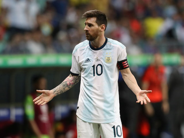 Argentina's Lionel Messi in action against Colombia in the Copa America on June 15, 2019