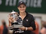 Ashleigh Barty celebrates winning the 2019 French Open