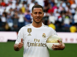 Eden Hazard is presented as a Real Madrid player on June 13, 2019