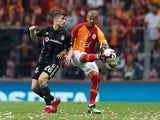 Besiktas midfielder Dorukhan Tokoz in action against Galatasaray in May 2019
