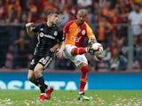 Besiktas midfielder Dorukhan Tokoz in action against Galatasaray in May 2019