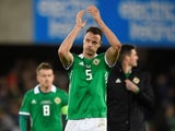 Jonny Evans pictured for Northern Ireland in March 2019