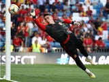 Kepa Arrizabalaga warms up for Spain on June 10, 2019