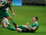 Northern Ireland's Paddy McNair celebrates scoring the winner against Belarus on June 11, 2019