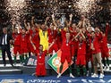 Portugal celebrate winning the Nations League in June 2019