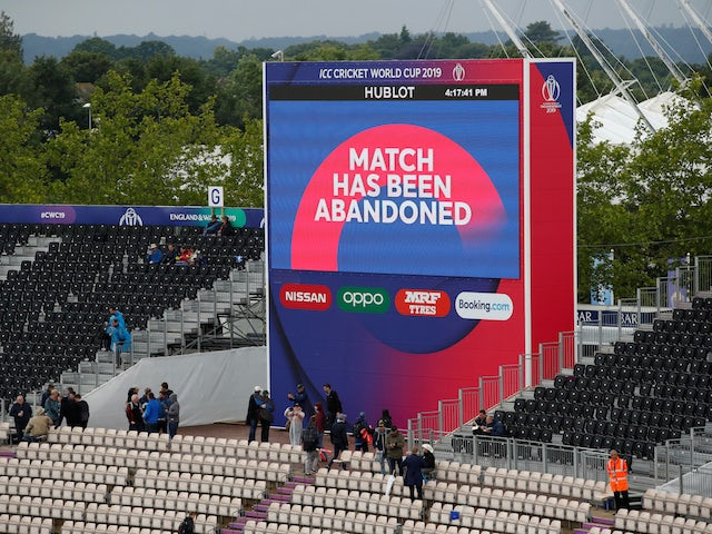 Result: World Cup clash between Pakistan and Sri Lanka falls foul of weather