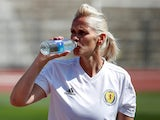 Shelley Kerr pictured in charge of Scotland Women in June 2019