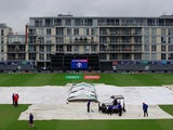 A general shot of a washed out Cricket World Cup match in Bristol on June 11, 2019