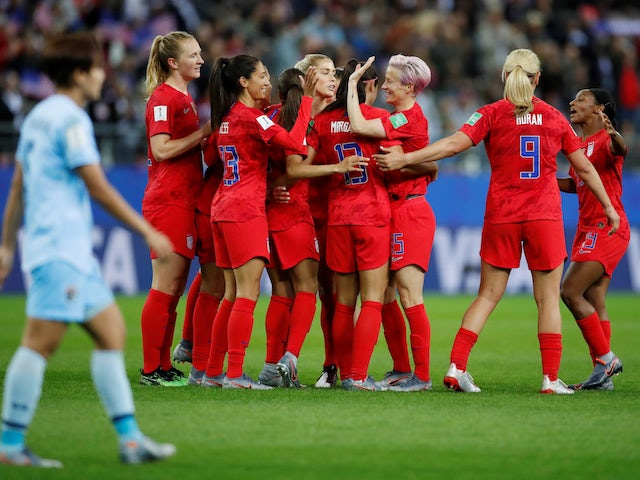 Result: USA make history with 13-goal World Cup rout of Thailand