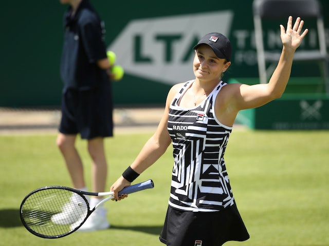 Result: Ashleigh Barty reaches Birmingham final to close in on world number one spot