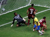 Brazil attacker Gabriel Jesus has a goal disallowed by VAR in the Copa America clash with Venezuela on June 18, 2019